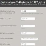 Calculadora tributaria RC IVA dependiente